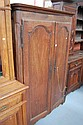 Antique French oak and pine small scale armoire,