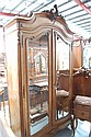 Antique French Louis XV walnut two door armoire