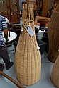 Darcy Clarke June cane and rattan floor lamp