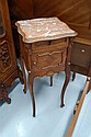 Antique Louis XV marble topped nightstand