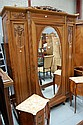 Vintage French Louis XVI walnut armoire, approx
