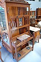 Antique federation period oak hall stand