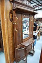 French Henri II walnut hallstand, fitted with