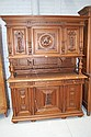 Antique French Henri II six door walnut buffet.