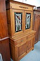 Two height Oak Edwardian bookcase