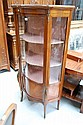Fine French shaped front vitrine, 160 cm H
