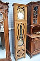Antique French Brittany long case clock, approx
