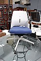 Blue gas lift chair with seat adjustment by AKABA,