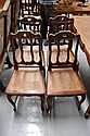 Set of four French vintage dining chairs (6)