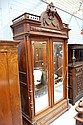 Antique French Henri II walnut two door armoire,