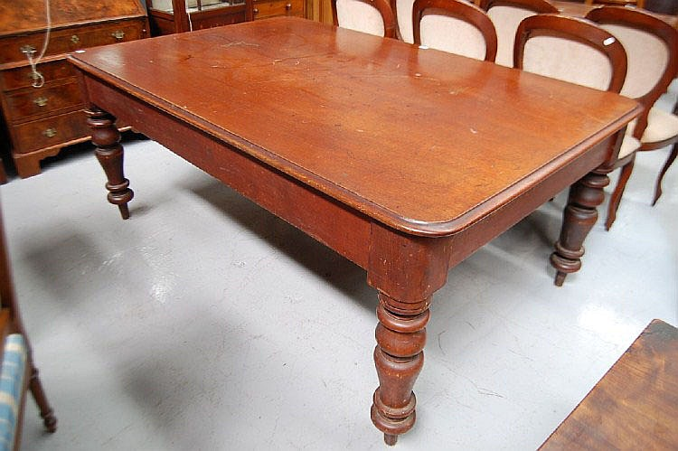 Antique Australian cedar turned leg court house