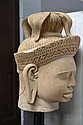 Large Buddha head  & pedestal, 184 cm H