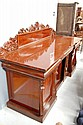 Large antique inverted breakfront mahogany