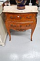 Vintage French marble topped two drawer commode