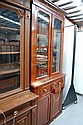 Two height Victorian Mahogany secretaire bookcase