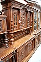 Antique French Henri II carved oak two height