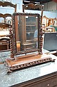 Unusual antique toilet mirror, the frame carved in