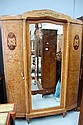 A fine French Parquetry armoire, approx 232cm H x
