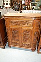 Chinese well carved multi door cocktail cabinet.