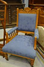 Antique Edwardian grandfather chair
