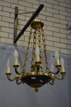 Vintage French Empire style eight light chandelier