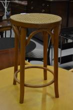 Bentwood stool, approx 60cm H x 38cm dia