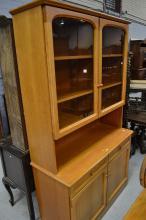 1970's display cabinet, approx 198cm H x 114cm W x 47cm D