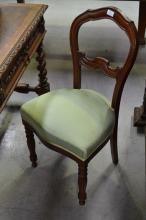 Antique French mahogany chair