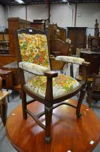 French oak provincial armchair