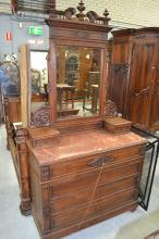 Antique French Henri II chest, dressing table, approx 228cm H x 117cm W x 51cm D