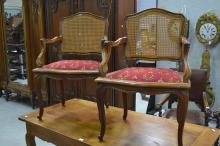 Pair of vintage French Louis XV style armchairs (2)