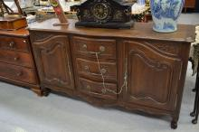 Vintage French Louis XV shaped front enfilade, approx 100cm H x 182cm W x 53cm D