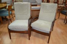 Pair of 1960's Blackwood arm chairs (2)