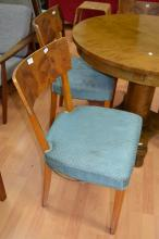 Set of four Swedish Biedermeier style dining chairs (4)