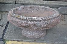 A Large French Art Deco composite stone chip large urn, approx 42cm H x 65cm W x 34cm D