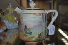 Royal Doulton, teapot, 'pipes of pan' design, approx 15cm H