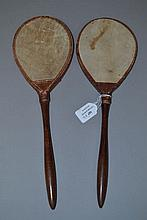 Two old vintage ping pong paddles (2)