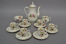 Royal Worcester, Roanoke, coffee service, white with floral decoration
