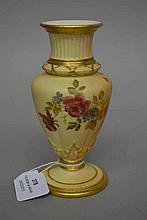 Antique Royal Worcester blush ivory vase, approx 14cm H