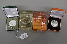 Two boxed and cased Australian 2004 and 2005, $1 Silver Kangaroo proof coin