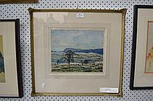 Watercolour, landscape, signed lower right