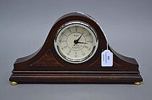 Small dome topped clock, battery movement, approx 17cm H x 33cm W x 6cm D