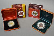 Boxed 2004, 40th anniversary of the last Australian Penny, 1964 silver and