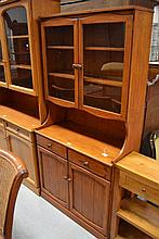 Modern pine dresser, approx 180cm H x 90cm W x 42cm D