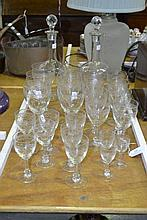 French glasses and two decanters