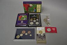 Assortment of coins, 2007 60th anniversary $1 coin, Royal 60th Wedding Anni