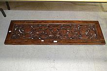 19th century Javanese wind (ventilation) panel, approx 117cm x 36cm