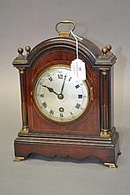 Vintage English Georgian style bracket clock, movement marked Coventry Astr