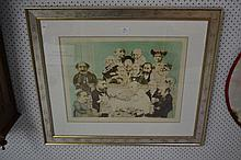 Charles Bragg, Limited Edition Colour lithograph, titled,  College of Surgeons, Signed, titled and n