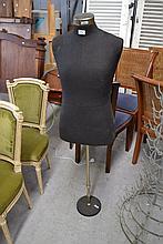 Vintage French mannequin, Genard Paris, weighted base, chromed metal adjustable support, approx 146c